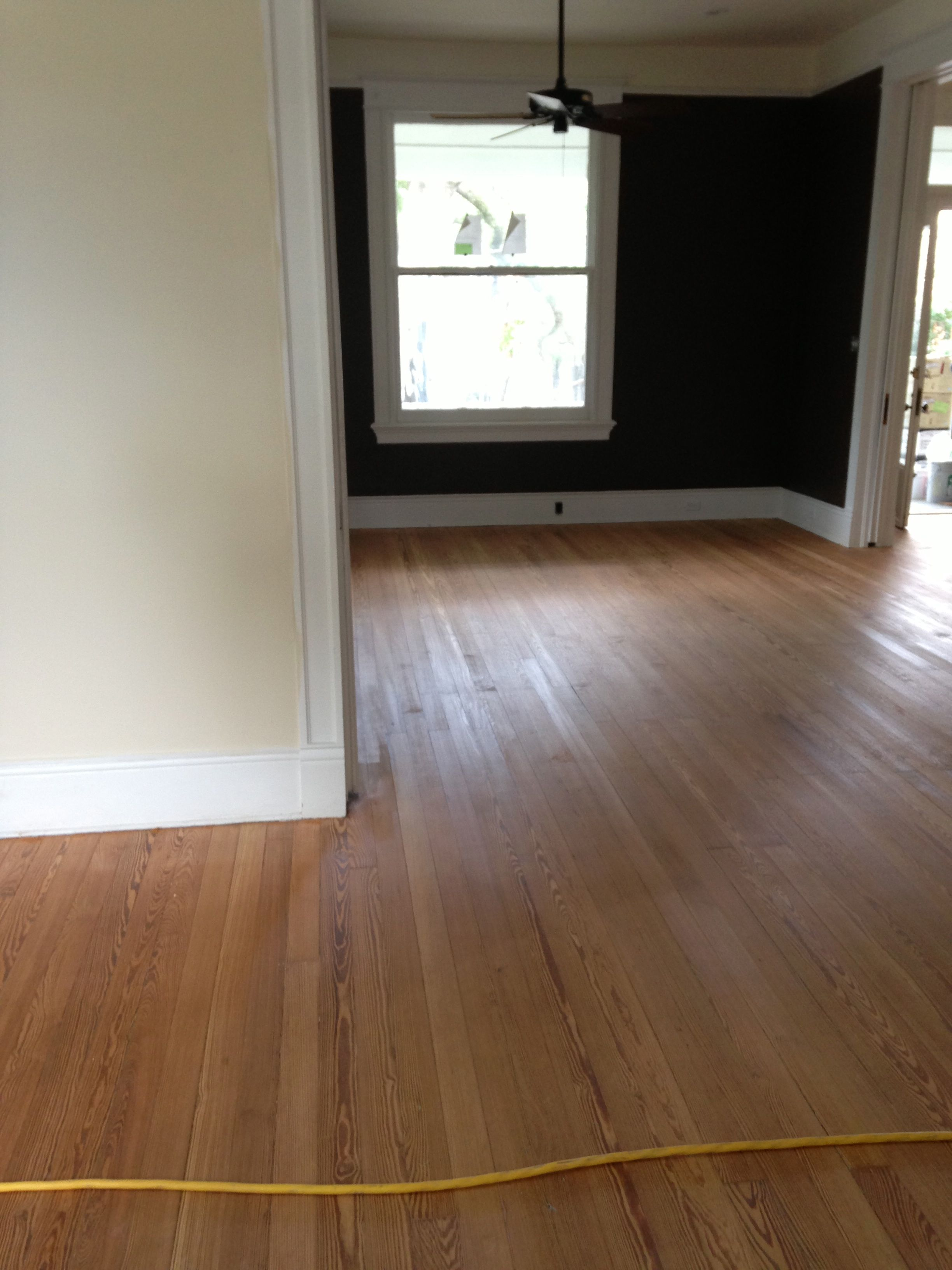 Sanded and cleaned hardwood floors