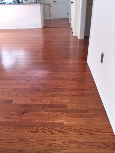 Tile replacement, hardwood, refinish, sand, polyurethane