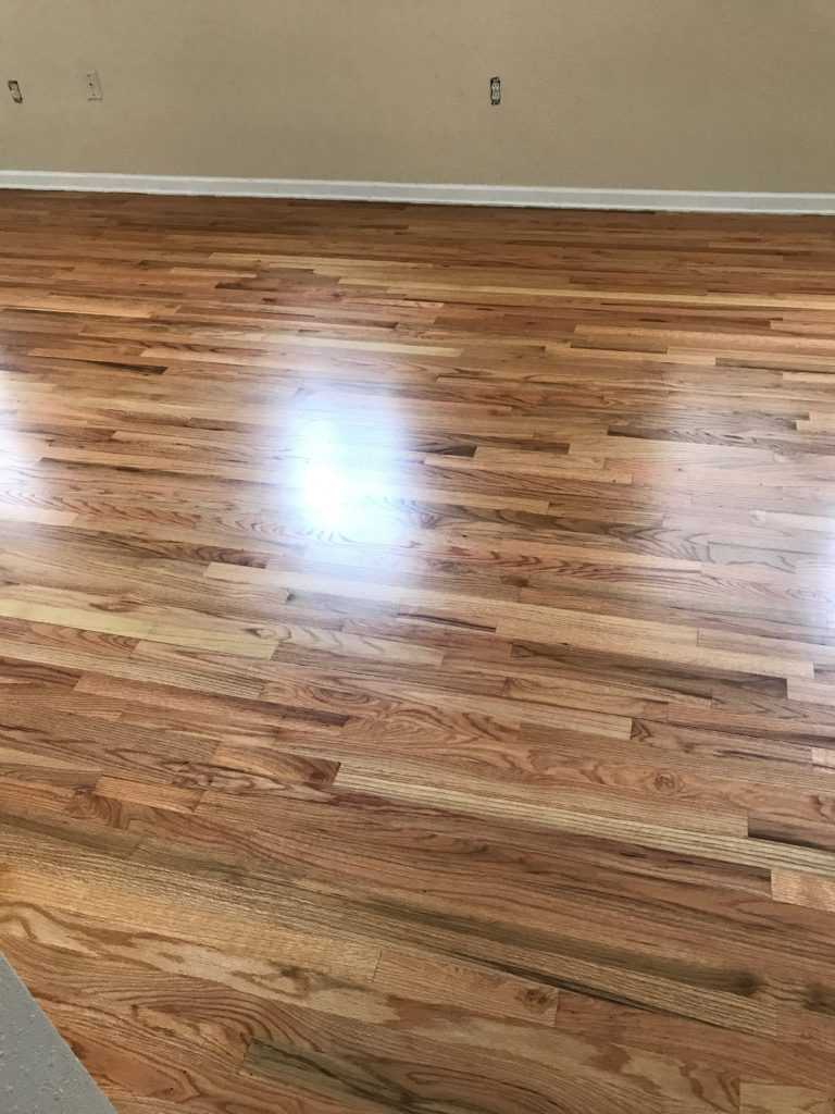 natural red oak flooring