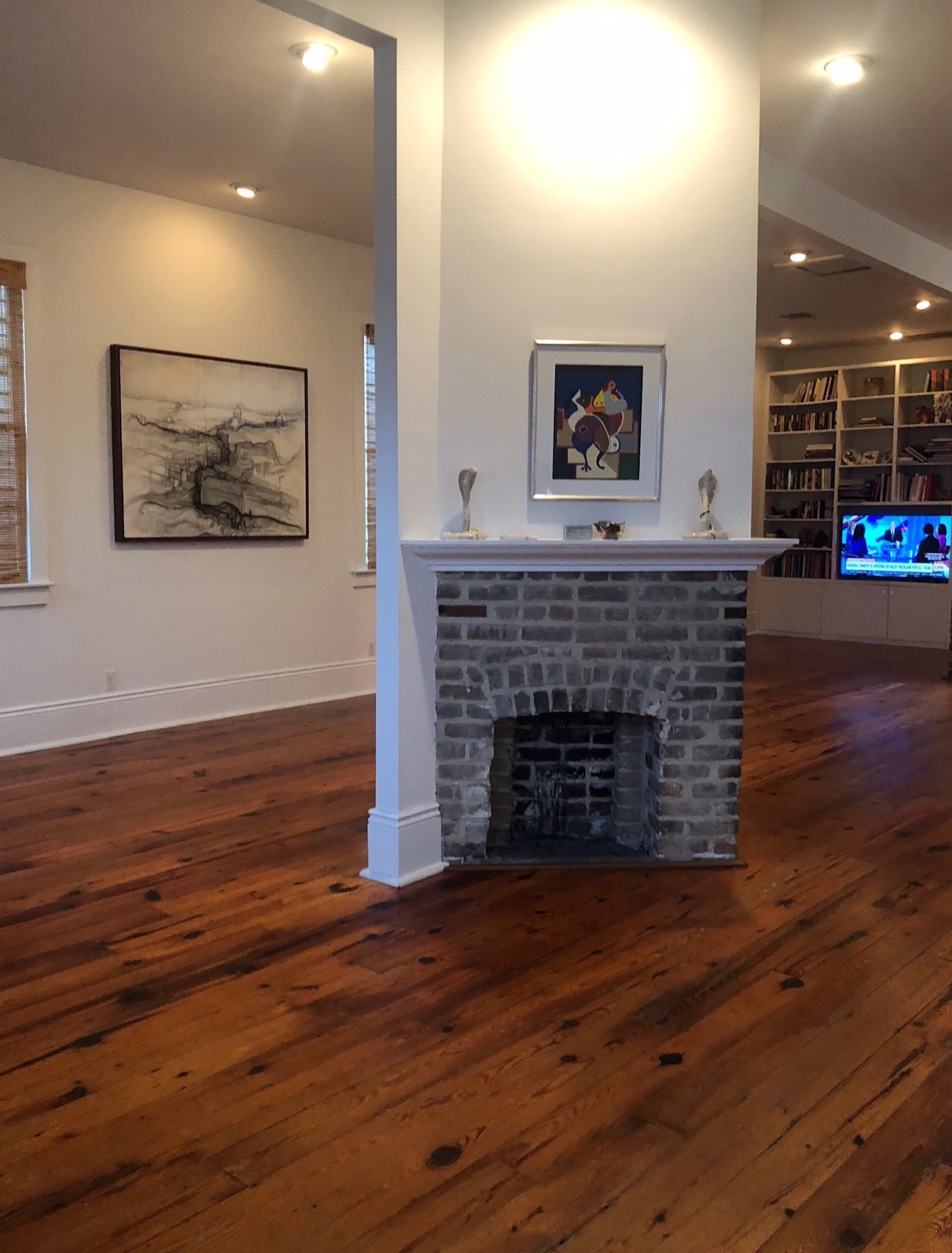 hardwood floors, dark, light